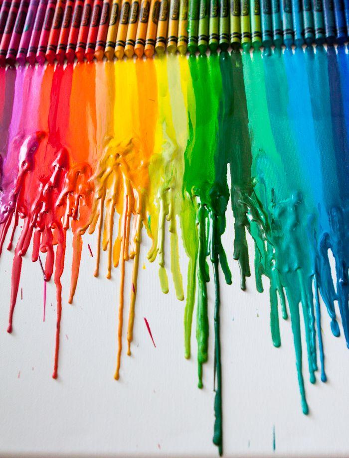 Boya Kalemlerinizden Tablo Yapın Make Painting From Your
